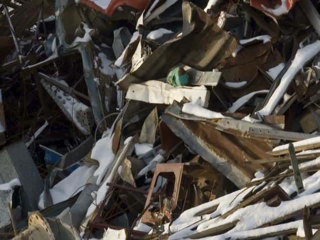 Scrap Metal and household waste at recycling facility, PAL