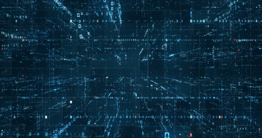 Digital binary code background loop - Fly through abstract 3D rendering of a scientific technology data binary code network conveying connectivity, complexity and data flood of modern digital age | Shutterstock HD Video #31579318