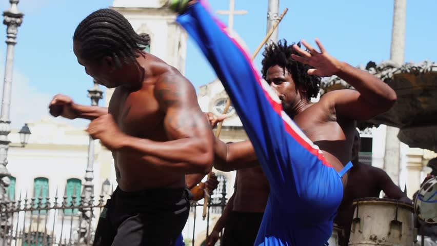 Group of people playing Capoeira in Salvador, Bahia, Brazil | Shutterstock HD Video #31590010