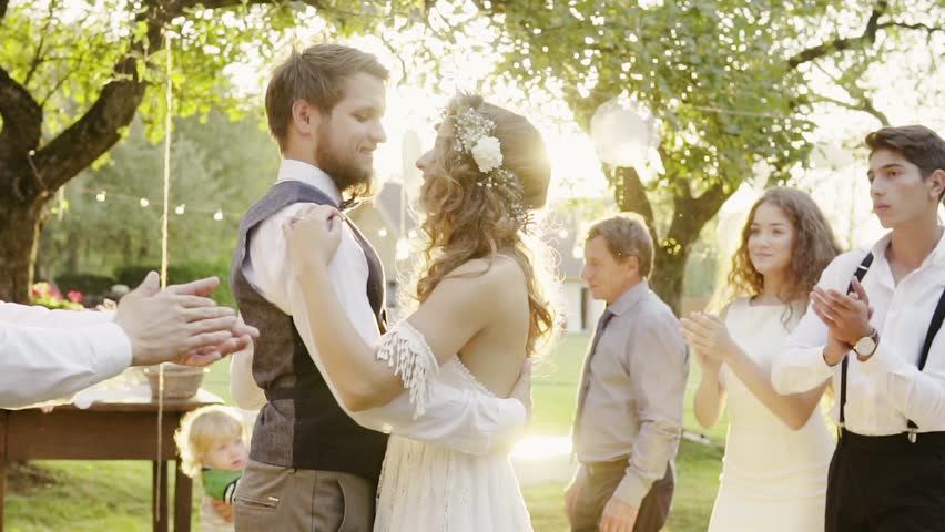 Wedding Reception Outside In The Stock Footage Video 100 Royalty