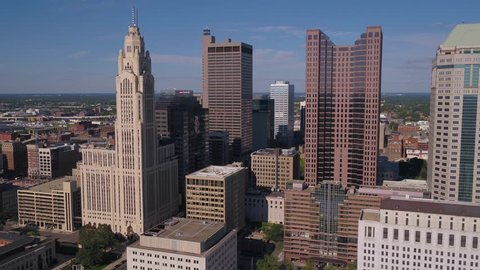 Aerial Ohio Columbus July 2017 Sunny Day 4K Inspire 2