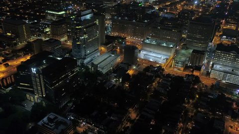 Aerial Delaware Wilmington July 2017 Night 4K Inspire 2