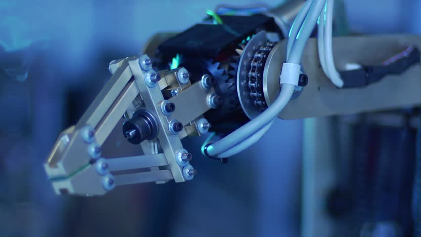Robotic Arm with Gears - Speed Ramp | Shutterstock HD Video #3165460