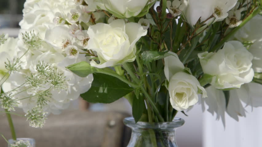Close up white flower decorations | Shutterstock HD Video #31728580