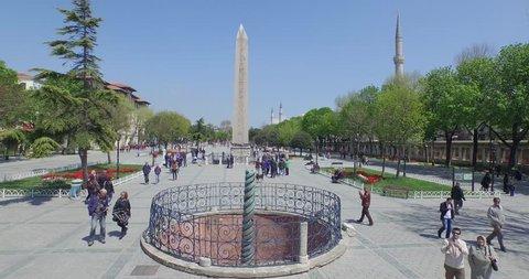 Aerial view of Istanbul Sultanahmet Square, Turkey. June 12, 2015