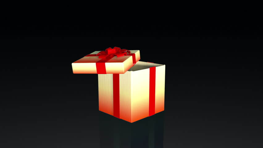 Animated gift box spinning stock footage video 5472053 shutterstock gift box opening lid to present a virtual product against black hd stock footage negle Image collections