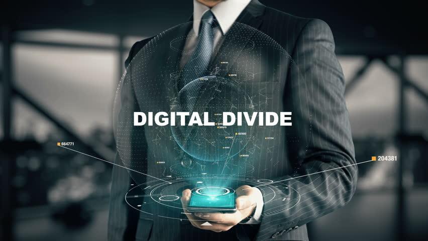 Businessman with Digital Divide | Shutterstock HD Video #31786624