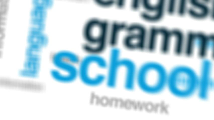 English grammar animated word cloud, text design animation.   Shutterstock HD Video #31807210