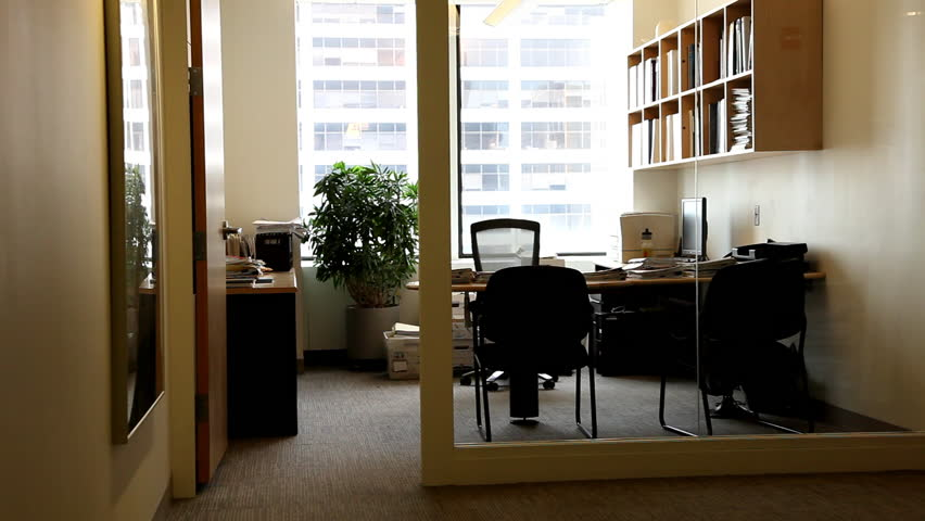 Empty Offices. Dolly from one room to another.
