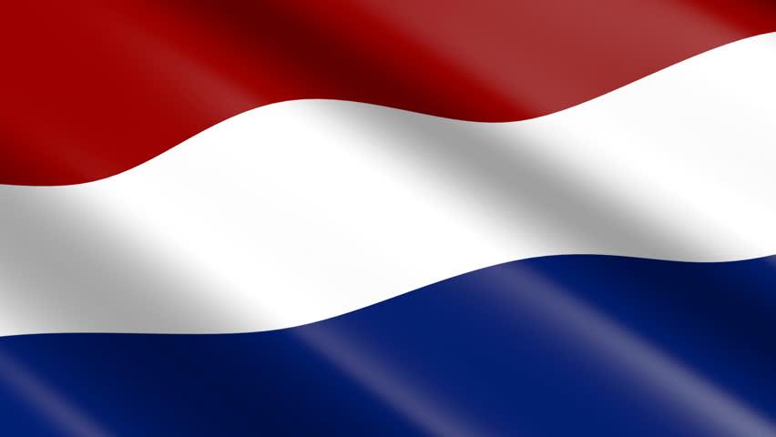 Flag of Netherlands (seamless loop)