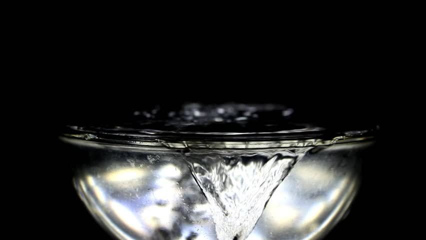 Glass bowl with water
