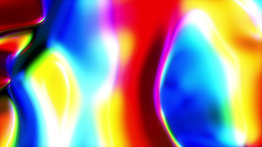 Very Colorful Liquid-like Video Background Loop  ///  A very colorful and liquid-like video backdrop with nice organic motion and beautiful glassy texture.
