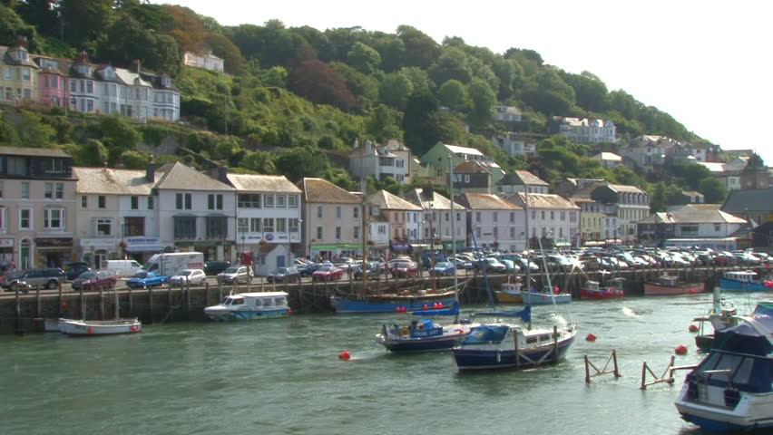 LOOE, ENGLAND - CIRCA 2011: Town and river estuary at Looe in Cornwall.
