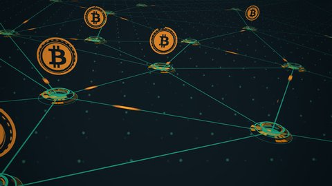 Graphical interface showing bitcoin mining process.