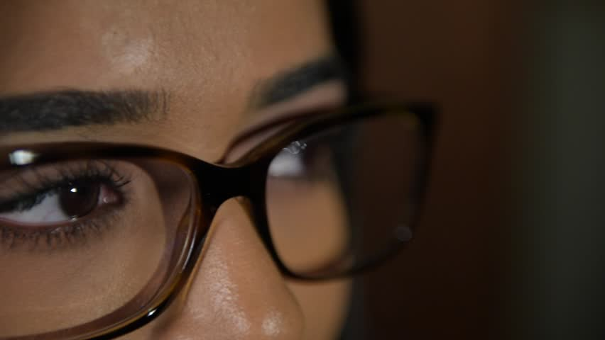 Close Up of Indian Woman Wearing Glasses | Shutterstock HD Video #32049700