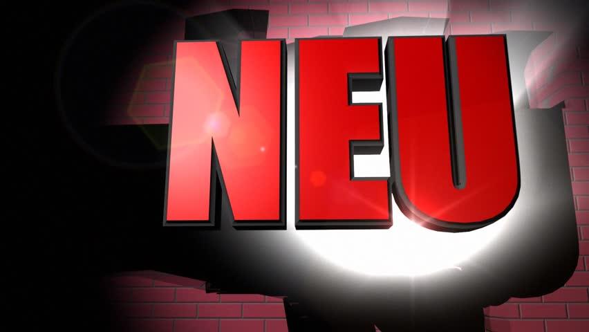 Neu! (NEW)    Shutterstock HD Video #3208228