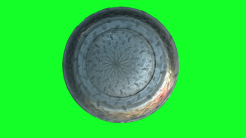 Flying saucer isolate on green screen. UFO. Realistic shaders and motion blur. 4K animation. | Shutterstock HD Video #32118505
