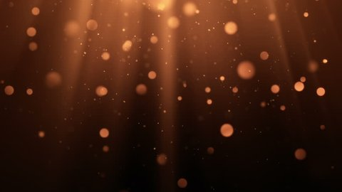 Abstract background with animation of flying and flickering particles as bokeh of light. Animation of seamless loop.