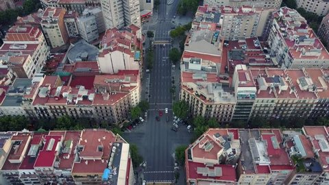 Overhead View of Barcelona Eixample