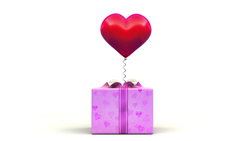 Valentine's Heart out of the gift box. | Shutterstock HD Video #3220120