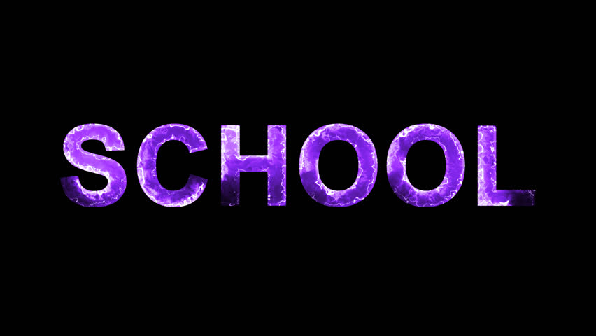 Luminous and shimmering haze inside the letters of the word SCHOOL. Transparent, Alpha channel | Shutterstock HD Video #32204620