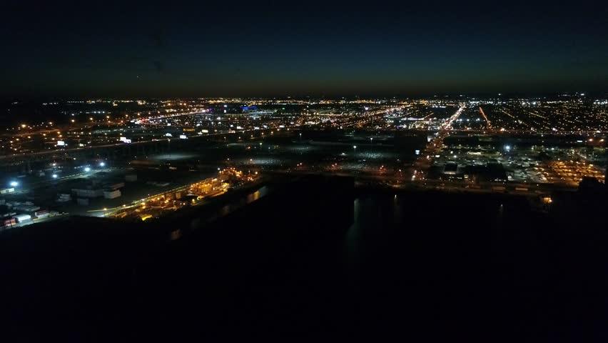 Aerial View South Philadelphia Stadium Area | Shutterstock HD Video #32223580