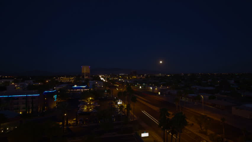 HD 30p wide Super Moon 2012 rises over Tucson Arizona time lapse