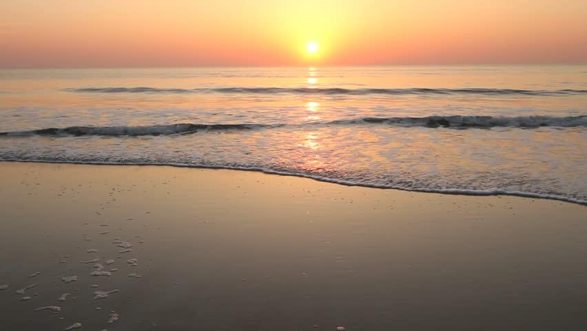 sunrise, beach on Atlantic Ocean, NE Florida (Anastasia State Park, St. Augustine)