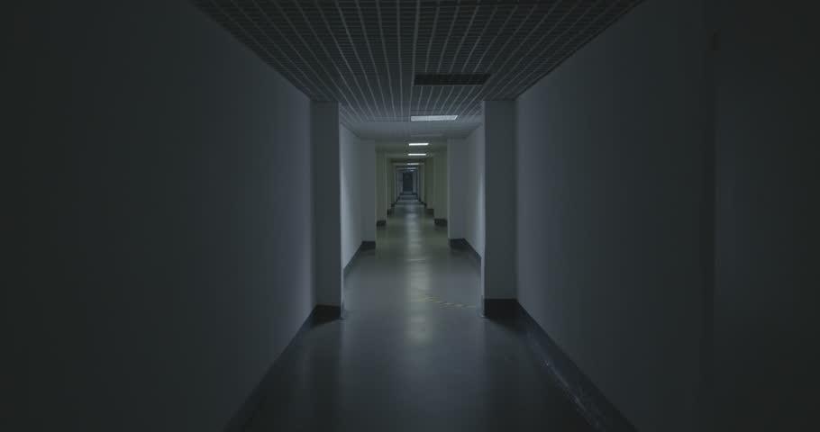 Empty Corridor. Factory. Zoom-in. Saint Stock Footage Video (100 ...