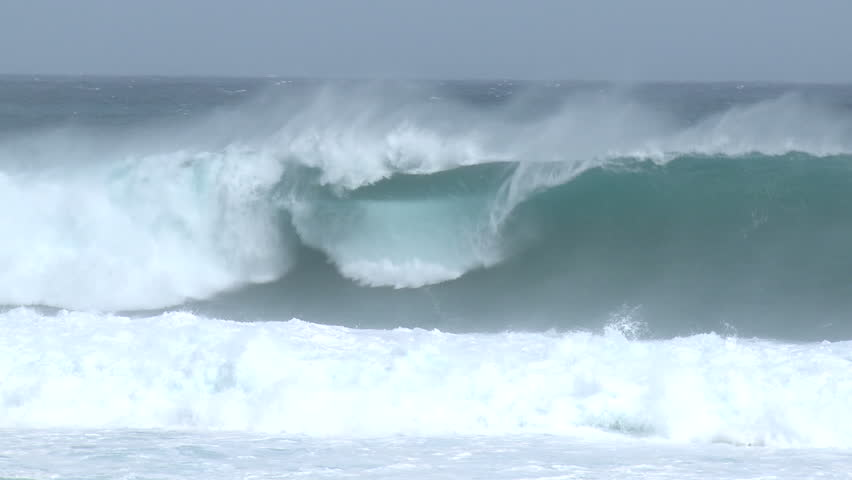 Large Waves Surf Crash Ashore Ahead of Hurricane. Shot in full HD 1920x1080 30p on Sony EX1 XDCAM