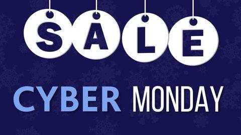 Cyber Monday Sale on the dark blue background