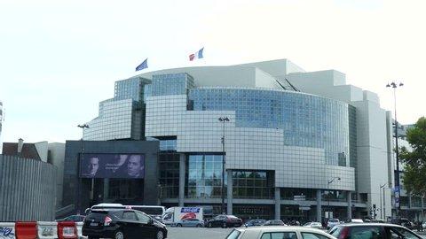 PARIS, FRANCE - OCTOBER 8, 2017. Bastille Opera House