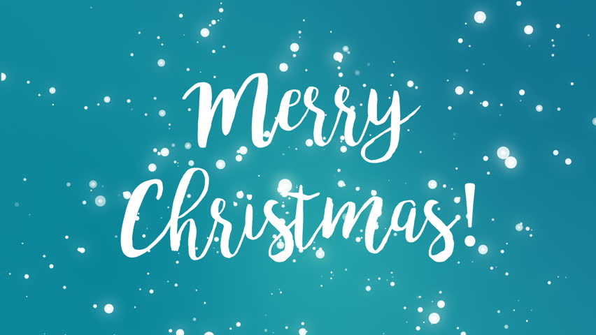 Stock video of sparkly merry christmas greeting card video hd0020teal blue merry christmas greeting card video animation with handwritten text and falling sparkly snowflakes m4hsunfo