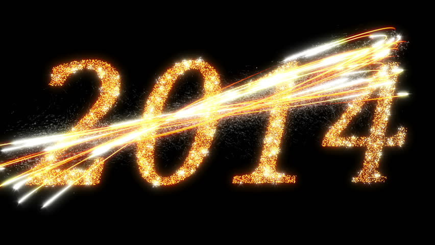 Happy New Year 2017 Inscription Sparklers On A Black Background