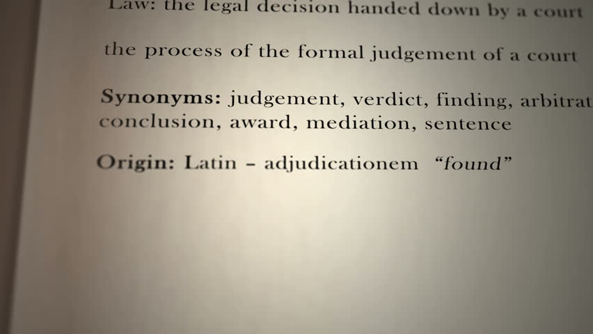 Header of adjudication