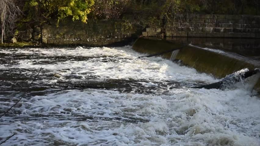 Blackstone River Small Waterfall