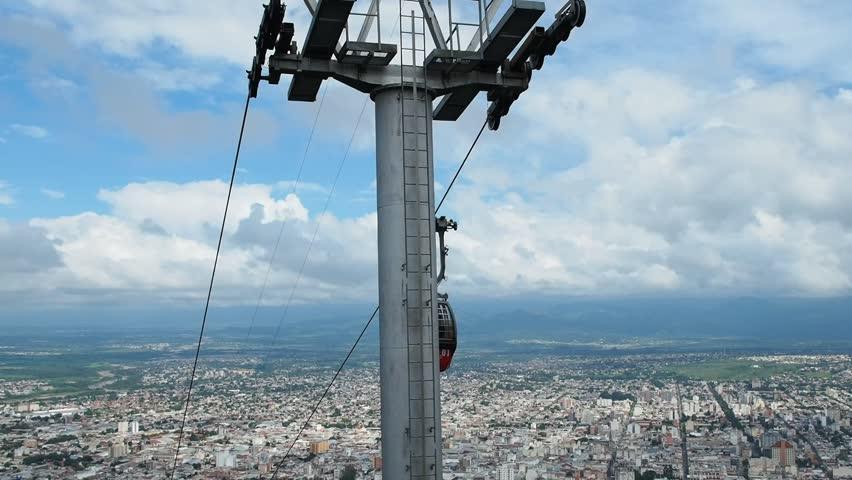 Argentina, Salta – April 06, 2017: San Bernardo Hill Cable Car