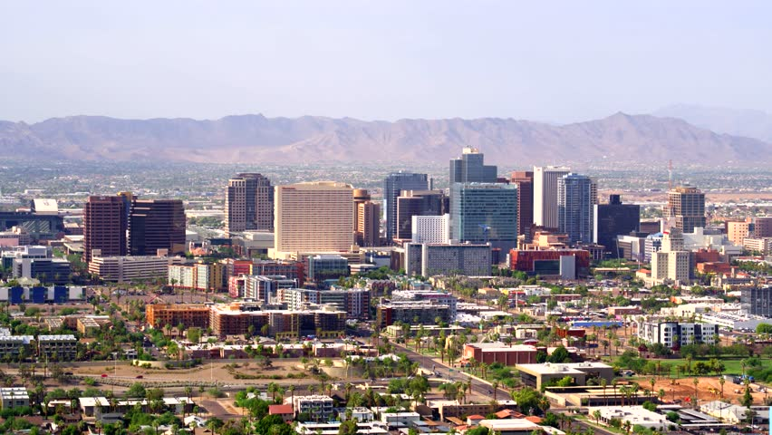 Downtown Phoenix skyline and buildings image - Free stock