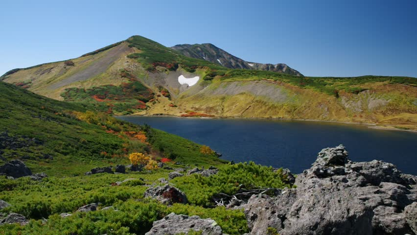 Hakuba Oike pond in Autumn season