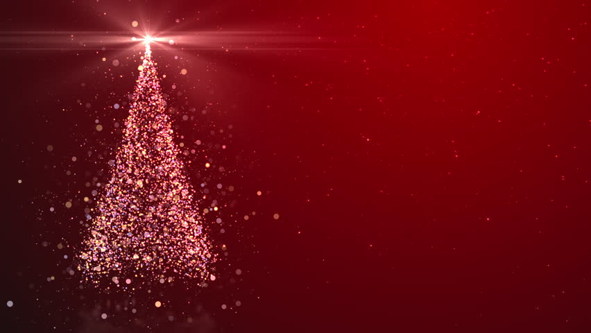 Merry Christmas greeting video card. Christmas tree with shining light, falling snowflakes and stars, 4K video background | Shutterstock HD Video #32648551