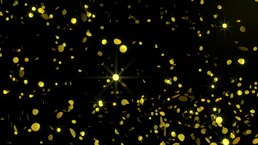 Golden Confetti - Glamorous Video Stock Footage Video (100% Royalty-free)  3265000 | Shutterstock