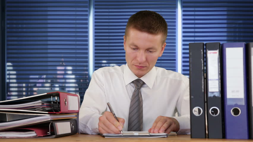 Exhausted Collar Worker receiving more Work and getting to sleep