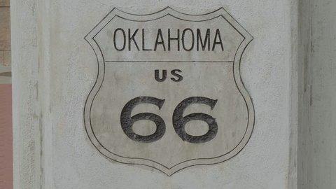 Oklahoma Historic Route 66 sign in Tulsa