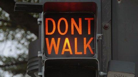 Walk - Dont Walk old traffic lights in Tulsa Downtown