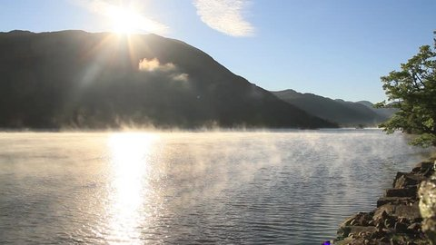 Misty Ullswater Sunrise, Lake District, UK