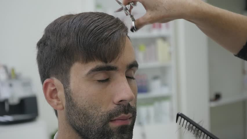Close Up Barber Haircut Clipper. slow motion. | Shutterstock HD Video #32674930