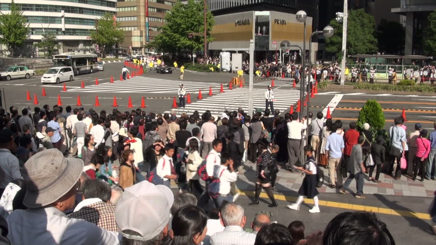 NAGOYA, JAPAN - 20 OCTOBER 2012: Crowd of spectators waits for the Nagoya Matsuri (festival) to start | Shutterstock HD Video #3270170
