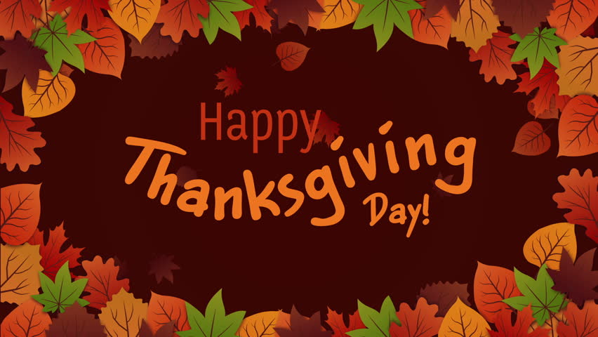 Thanksgiving greeting card with autumn leaves | Shutterstock HD Video #32733940