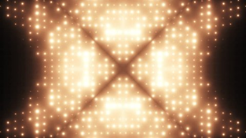 Flashing Lights Wall VJ Stage Kaleidoscope Loop 4K