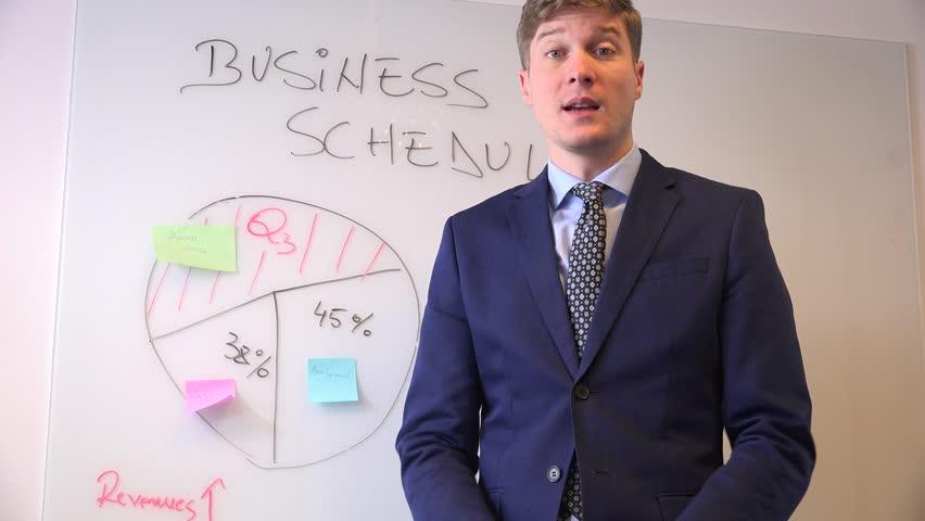 Camera interview business meeting presentation formal man entrepreneur talking | Shutterstock HD Video #32836783